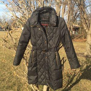 Like New Express Black long Down Coat size S